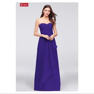 DAVID'S BRIDAL Regency Strapless Crinkle Dress